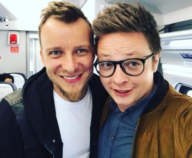 Na zdjęciu Piotrek z Mateuszem Szymkowiakiem